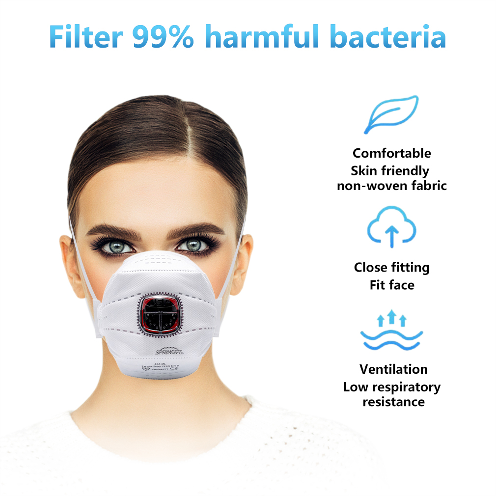 In Stock! FFP3 Mask with Valve PM2.5 Filter Face Mask as N95 Face Mouth Mask Anti haze Dust Mask Protective Masks Dropshipping 6