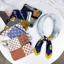 New Small Square Scarf Women 's Decorative Artistic Korean -Style All -match Neckerchief Professional