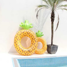 Inflatable Pineapple Swimming Ring Large Lifebuoy Giant Circle Kids Adult Swim Pool Float Toys Beach Party Decoration