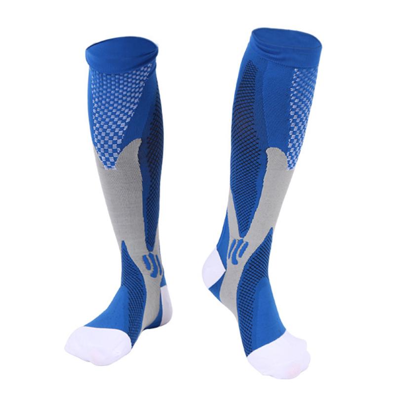 Men Women Compression Socks Fit For Sports Black Compression Socks For Anti Fatigue Pain Relief Knee High Stockings EU 39 47 Hot
