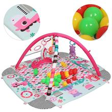 5in1 Baby Gym Play Mat Toddler Activity Balls Musical Toy Floor Carpet Crawling Rug Infant Play Mat Dolls Toy Gym Fence Rack HWC