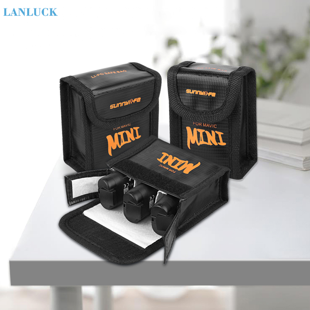 Battery Safe Bag For DJI Mavic MINI Drone Protective Case Transport Safety Protector Explosion-proof Anti-scratch Accessories