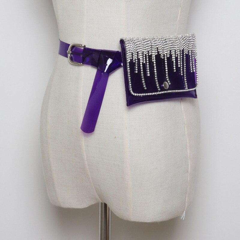 2020 Spring Stylish Trendy Chain Bags For Women Fashion Waist Bag Tide New Design Diamond Tassel Belt Bag Female Hot Sale ZK560