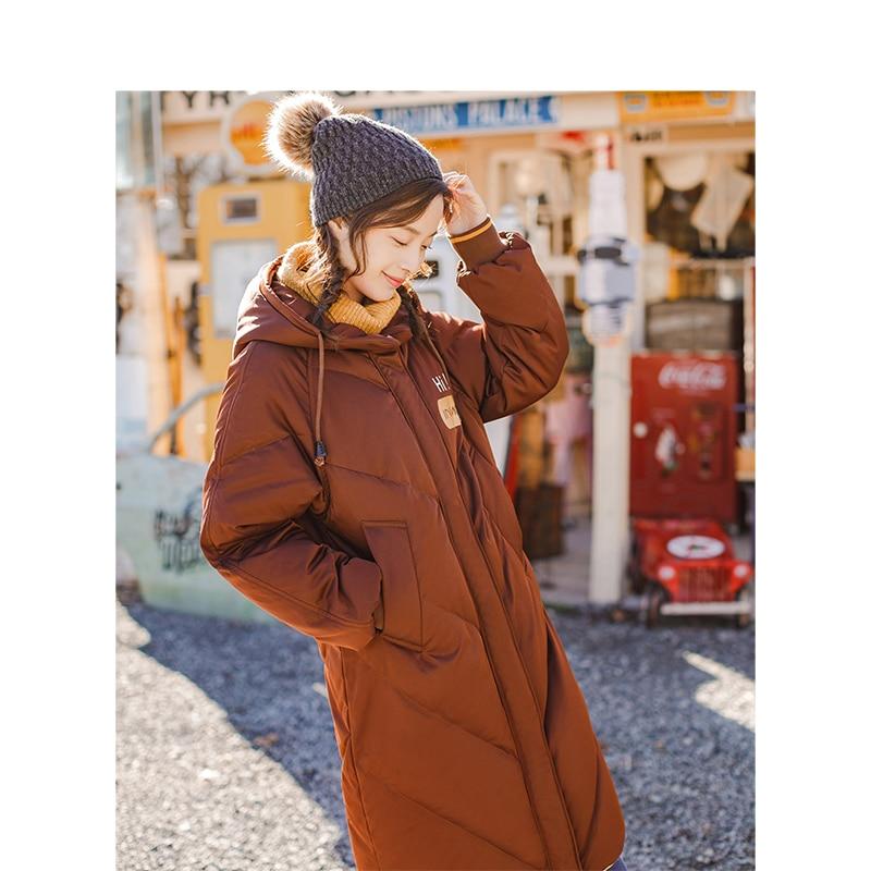 INMAN à capuche impression loisirs dames femme fille hiver Long canard vers le bas en cuir chaud manteau femmes vestes mode pardessus-in Doudounes longues from Mode Femme et Accessoires    1