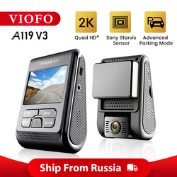 VIOFO A119 V3 2K 60fps cámara de salpicadero del coche Super visión nocturna Quad HD 2560*1440P coche DVR con modo de aparcamiento g-sensor opcional GPS