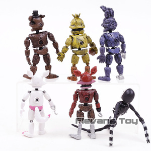 Image 4 - FNAF Five Nights At Freddys Nightmare Freddy Chica Bonnie Funtime Foxy PVC Action Figures Toys Sets