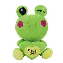 цены Cute frog doll plush doll green bean frog doll children hold pillow birthday gift to send girls