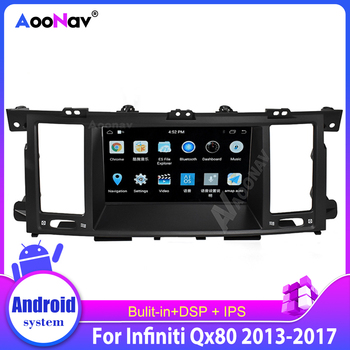 Car Radio Gps Navigation Auto Audio Radio Stereo For Infiniti Qx80 2013-2017 Touch Screen Autoradio Hd Screen Multimedia Player image