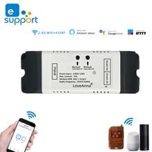 EWeLink DC12V 24V 32V 220V WiFi commutateur relais maison intelligente télécommande wifi inching module moteur rideau commutateur travailler avec Alexa