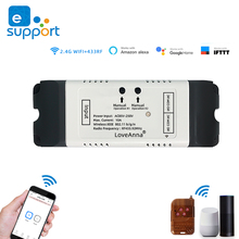 EWeLink DC12V 24V 32V 220V 와이파이 스위치 릴레이 스마트 홈 원격 제어 와이파이 인칭 모듈 모터 커튼 스위치 알렉사와 함께 작동