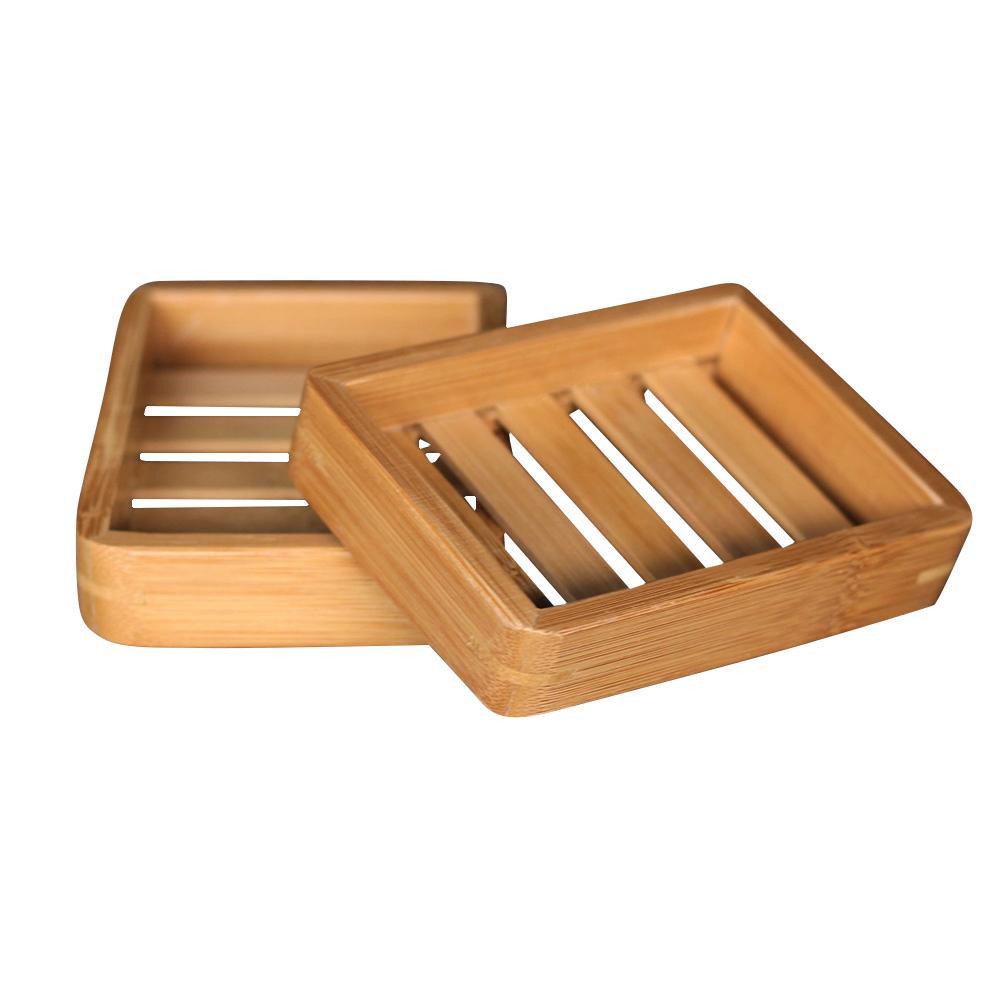 Bathroom Dish Hand-drained Soap Box Simple Wooden Soap Tray Anti-deformation Waterproof Soap Holder Bathroom Supplies