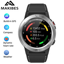 Makibes M4 Smart Watch Pria GPS Smartwatch Multi-Bahasa IP67 Tahan Air Heart Rate Monitor Clock Call Pesan Pengingat(China)