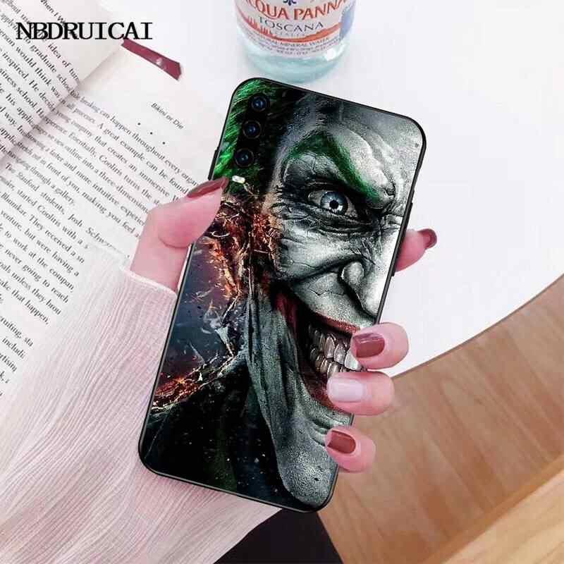 PENGHUWAN Marvel Joker Venom 스파이더 맨 화웨이 명예의 새로운 블랙 핸드폰 케이스 20 10 9 8 8x 8c 9x 7c 7a 라이트보기