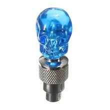 2X колпачок клапана на колесе шин светодиодный светильник лампа для мотоцикла велосипеда автомобиля, синий