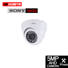 HD 5MP CCTV pokój kopuła kamera AHD kryty wodoodporny Ninght na podczerwień w filtr górnoprzepustowy P2P Onvif XMEYE w aparat nadzoru ruchu