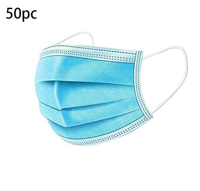 50 pcs máscara facial descartável denta industrial 3ply orelha loop boca capa protetora máscara protetora rímel tejida de novo estilo