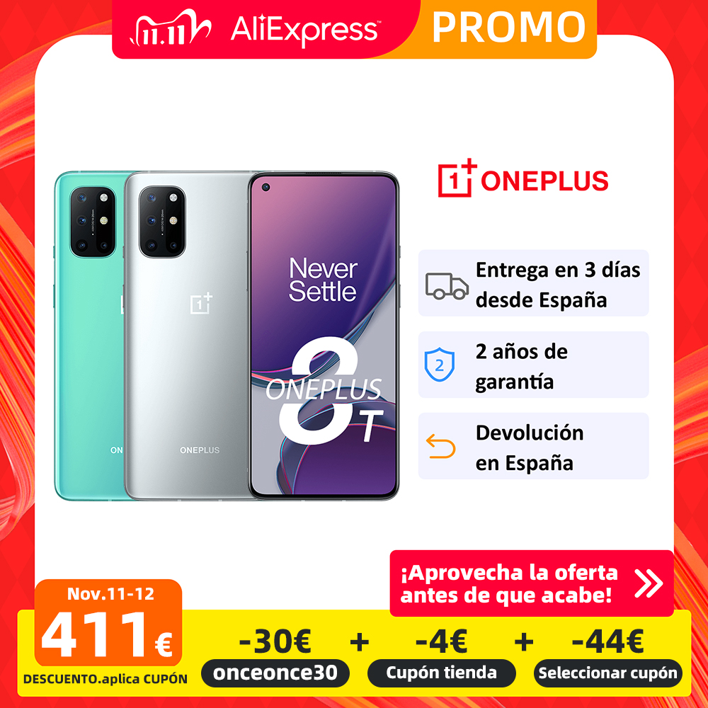New Global ROM OnePlus 8T 8 T Smartphone Snapdragon 865 5G 6.55'' 120Hz Fluid Display 48MP Quad Camera Warp Charge 65 NFC|Cellphones| - AliExpress