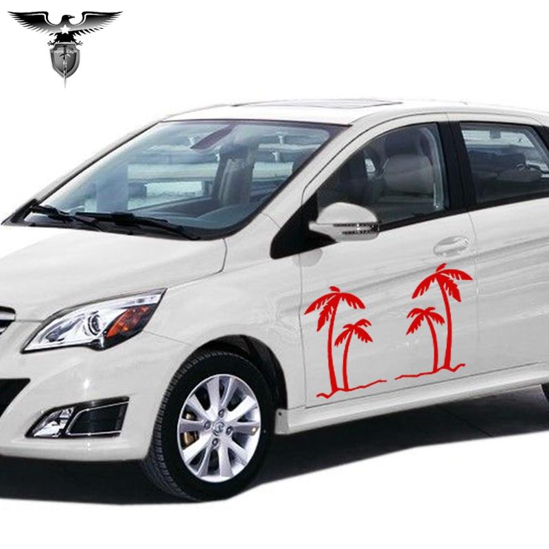 EmpireYing 3 velikosti 8 barev palma tropy grafický auto nálepka - Exteriérové autodoplňky