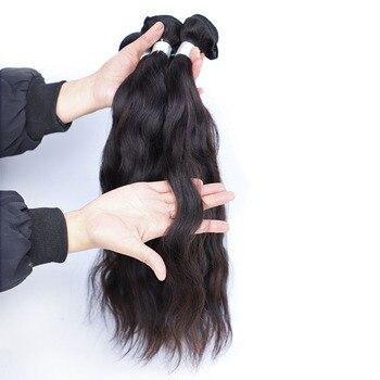"[UNA] Natural Wave 6A Low Ratio 8""-28"" Indian Remy Hair Weave 3 Bundles Deal Natural Hair Weft Human Hair Bundles 100g"