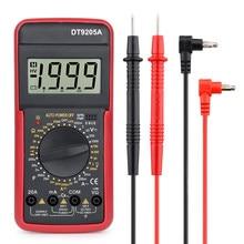 Multimetro digitale DT9205A AC professionale DC tensione corrente Tester multimetro gamma manuale contatore elettrico Over Range Alarm