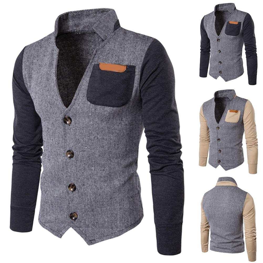 Autumn Winter Men's Jacket Slim Fits Stand Collar Zipper Jackets Men Solid Cotton Thick Warm Jacket Men Chaqueta Hombre куртка