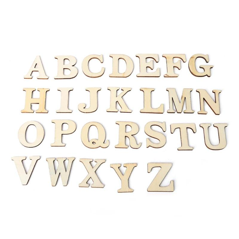Wooden Letters Alphabet For DIY Scrapbooking Art Craft Scatter Home Decor