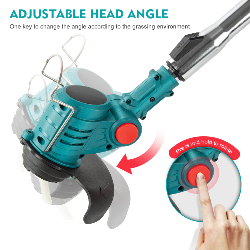 Makita Lawn For Electric Auto Mower Brush Cutter Power Li 18V Tools Trimmer String Release Cordless Grass Ion Household Garden