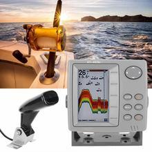 Детектор рыбалки 4,3 дюймов красочный дисплей рыболокатор детектор глубокой воды датчик для лодки водонепроницаемый рыболокатор