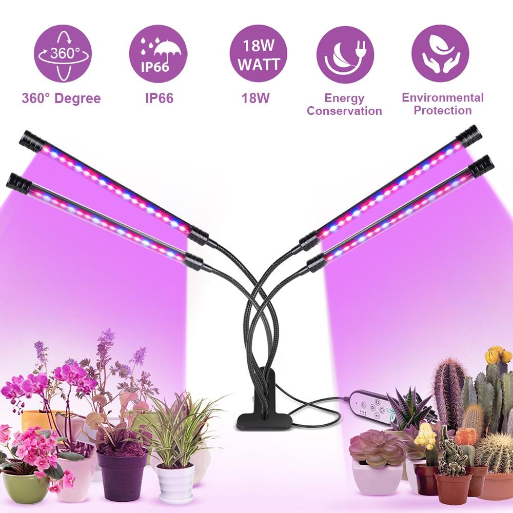 LED Grow Light USB Phyto Lamp Full Spectrum Grow Tent Complete Kit Phytolamp for Plants Seedlings Flowers Indoor Grow Box