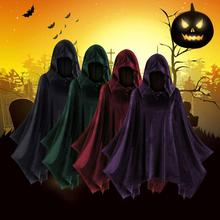 Hollween poncho Fashion Womens Solid Cloak Vintage Matching Hooded Cape Coat female