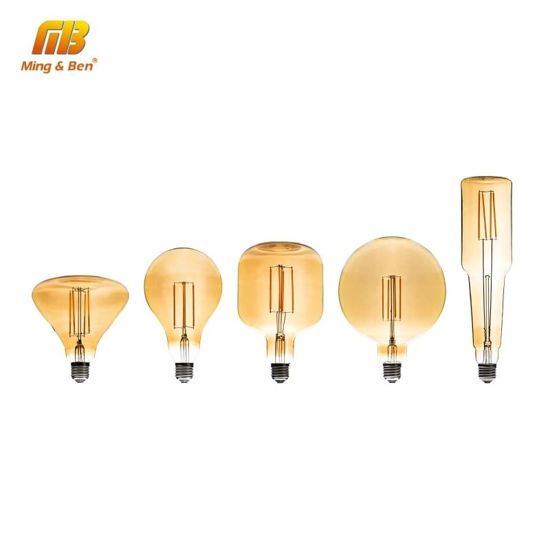edison do vintage lampadas led filamento lampada e27 4 w 220 v 240 v quente retro