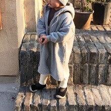 Детские куртки, длинные плащи для маленьких мальчиков и девочек детские пальто с капюшоном для мальчиков верхняя одежда для маленьких девочек, плотные теплые куртки для девочек