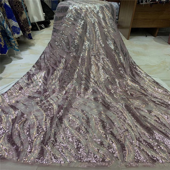 Madison French Sequins Net Lace Fabric 2020 High Quality Lace Bride African Nigerian Tulle Lace Fabrics For Wedding Dress