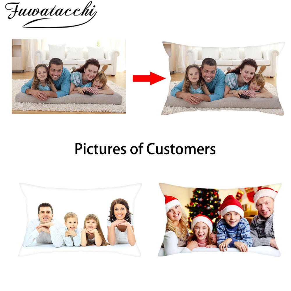 Fuwatacchi DIY Design Picture Print Family Pet Personal Life Photos Customize Gift Cushion Cover Pillowcase Pillow Cover 30x50cm