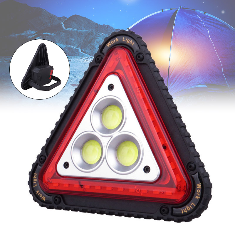 LED Working Lamp Portable Waterproof Triangular Warning Light For Camping Hiking Emergency NC99