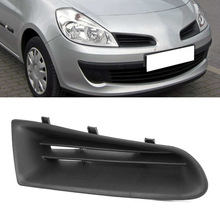 Grill-Cover Bumper 2006 2009 Front RENAULT CLIO Grille-Panel-Strips 2008 ABS MK3 2007