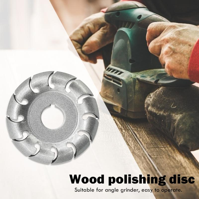 Wood Polishing Milling Cutter Disc Woodworking Angle Grinder Cutting Blades Attachment Circular Carving Grinding Disc