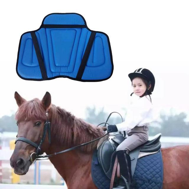Leather Horse Riding Shock Absorbing Memory Foam Saddle Cushion   4