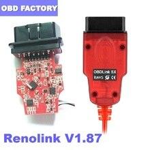 Renolink V1.87 forRenault ECU Programmer Key Coding UCH Matching Dashboard Coding ECU Resetting Functions Renolink V1.52