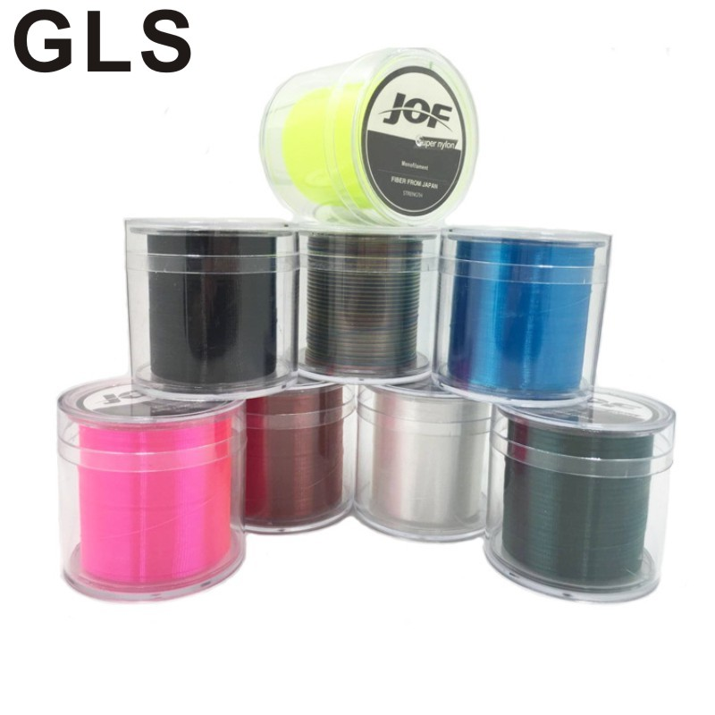 GLS marka naylon hattı 500 metre 8 renk seçmek için süper çekme ithal ham ipek olta
