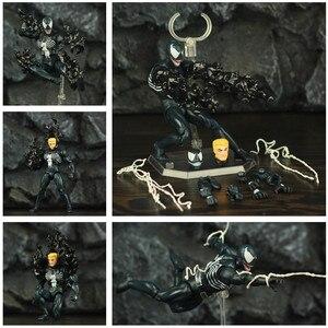 Image 2 - Comic venom & incrível aranha 6 , figura de ação, edward, eddie brock legends, peter parker, homem, vilão kos mafex boneca de brinquedo 088 075