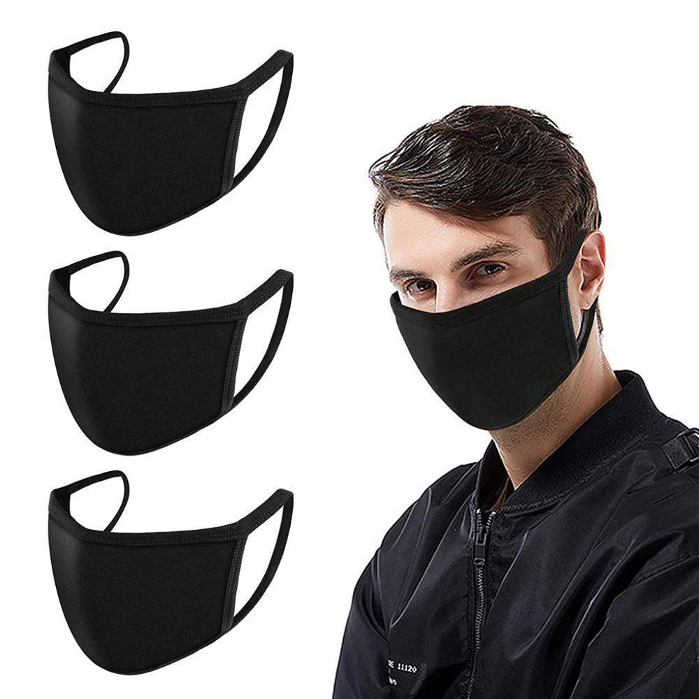 3PCS Masks Cotton Travel Double-Layer Dust-Proof Anti-Fog Haze Ventilation Adjustable