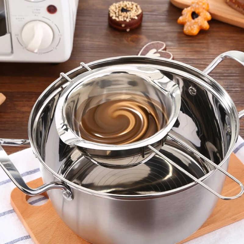 1 Chiếc Chocolate Bơ Đa Năng Làm Tan Nồi Inox Đôi Nồi Hơi, Fondant Caramel Tan Nồi, chiếc Chảo Làm Nóng Dụng Cụ Nướng Bánh