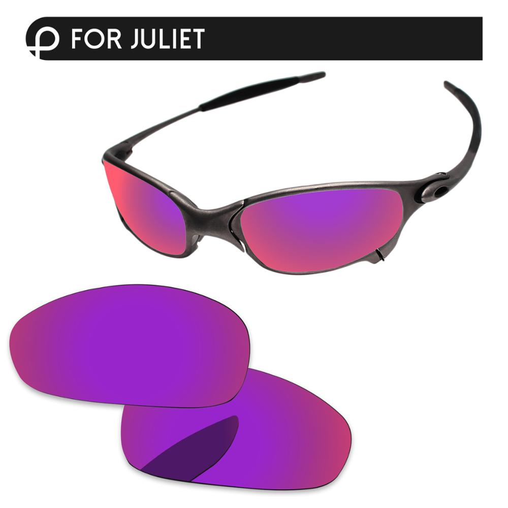 Papaviva Purple Red Mirror Polarized Replacement Lenses For Juliet Sunglasses Frame 100% UVA & UVB Protection