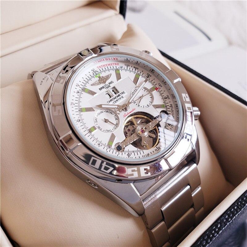 pulseira aço inoxidável relojes hombre automático
