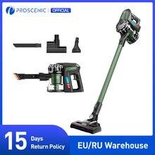 Proscenic p8 vara sem fio max aspirador de pó, 2 em 1 poderoso aspirador de pó 20000pa, 2 velocidades de modo bateria removível para casa