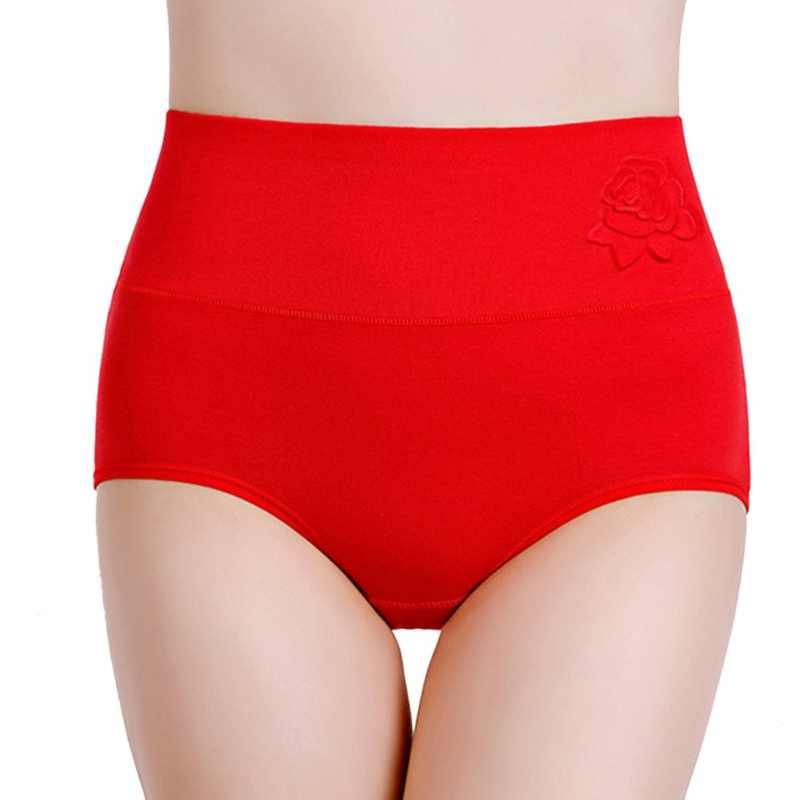 สูงเอว Rose กางเกงผู้หญิง Super ยืดหยุ่นชุดชั้นในชุดชั้นในกางเกงชุดชั้นในสบายรูปร่างกางเกงแฟชั่น