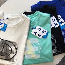 Camiseta de algodón para hombre y mujer, prenda de vestir, con bordado de grafiti de estilo veraniego, con Logo de la capa ADER, informal, Hip-Hop, 1:1, 2021
