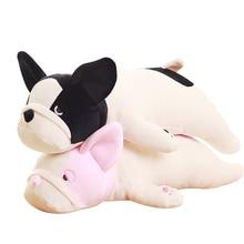 цены Soft French Bulldog Soft Filled Plush Toy Dog Cute Lying Dog Doll Pillow Cushion Kid Girl Gift 50-85cm WJ257