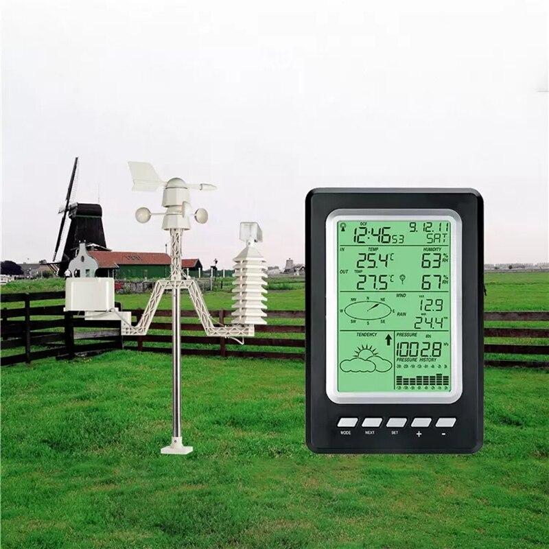 Hot 3C-Wireless Solar Sensor Weather Station WS1030 433Mhz Temperature Humidity Rain Pressure Wind Speed Wind Direction
